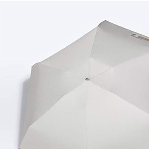 KWHY Anti- Pocket Mi Umbrla Ra Dames Wdproof Duurzaam 5 Foldg Parasols Draagbaar Zonnescherm Vrouwelijke Sol Paraplu, Kleur Lijm-Wit