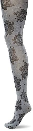 KUNERT Damen Wild Rose Strumpfhose, Black, 44/46