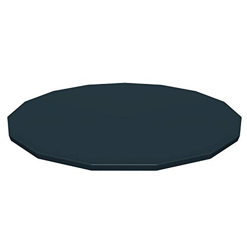Bestway BW58038-19 Flowclear-Lona Protectora de PVC (diámetro de 470 cm, Steel Pro MAX Piscinas Hydrium Splasher Ø460 cm), Color Gris, Negro, 457 cm/ 460 cm
