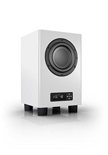 Nubert nuPro AW-350 Subwoofer | Lautsprecher für Bass & Effekte | Surround & Action auf hohem Niveau | Aktivsubwoofer-Technik | LFE-Box mit 200 Watt | Grenzfrequenz 35 Hz | Kompaktsubwoofer Weiß