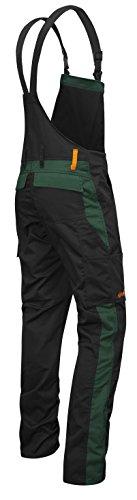 strongAnt® - Peto de Trabajo Berlin 280gr, Bolsillos para Rodilleras - Hecho en EU - Talla: 44, Color: Negro-Verde