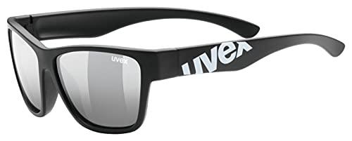 Uvex - Occhiali Da Ciclismo per Bambini, Taglia Unica, Colore: Nero - Black Mat