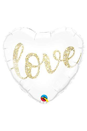 Folieballon, Love, voor de bruiloft of Valentijnsdag, folies ballon, decoratie, ballongas, verjaardag, huwelijk, ouders, nieuw, geschenk, liefde, gouden opschrift
