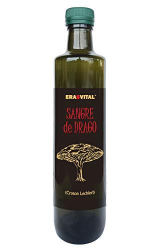 Drachenblut 500 ml Dragon's blood Croton Lechleri Sangre de Drago I LICHTGESCHÜTZT in Dunkelgrün-Glas abgefüllt I Flasche hat einen praktischen Tropfverschluss
