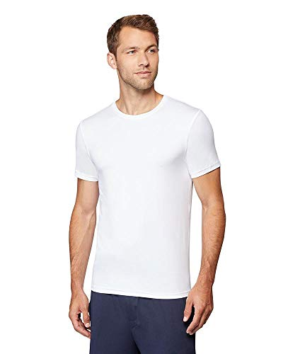 32 DEGREES Mens Cool Quick Dry Active Basic Crew T-Shirt, White, Large