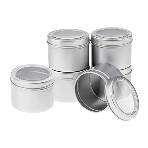 Bonarty House Care Tidy Tools 6pcs Contenedores de Almacenamiento de Oficina en Casa Latas de Aluminio Metal
