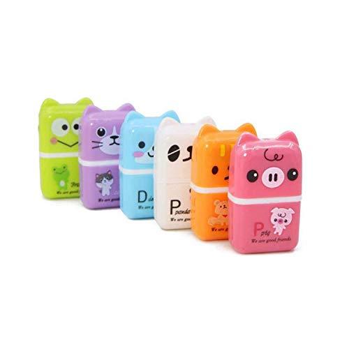 Jiexue 6PCS Gomas de borrar con temática animal Gomas de borrar con temática de dibujos animados para niños Papelería de oficina