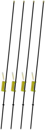 2-4 Stück Affenkletterer Bissanzeiger Set zum Angeln aus robustem Metall inkl. Knicklichter, Farbe :4x Grün