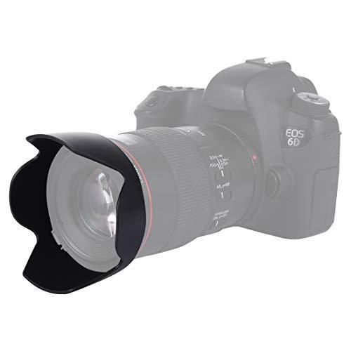 CELLONIC® Parasol EW-73B Compatible con Objetivo Canon EF-S 17-85mm f/4-5.6, 18-135mm f/3.5-5.6 IS Capilla Cámara, Cubierta del Objetivo, Visera Parasoles