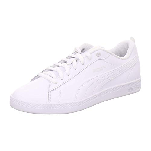 PUMA Damen Smash Wns v2 L Zapatillas, Weiß White White, 37.5 EU