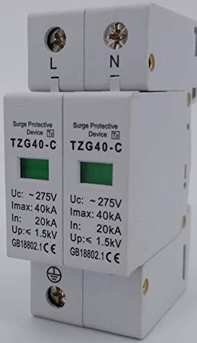 Protector Sobretensiones Transitorias Monofasico AC SPD 2P 20KA ~ 40KA 230VV