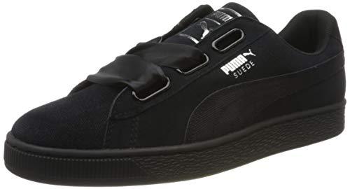 Puma Wns Suede Heart Pebble 365210-04, Zapatillas para Mujer, Negro Negro 365210 04, 37 EU