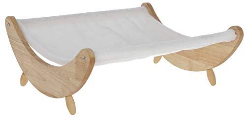 Kerbl Maxi-Pet 81629 Hängematte Dream, weiß mit Holzgestell