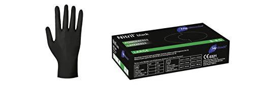 100 Handschuhe Nitril® Black in Größe M - puderfrei Untersuchungshandschuhe