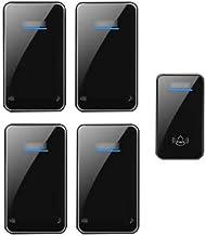 Wireless Doorbell, 1000-Foot Long Doorbell Kit 1 Button and 4 Plug-in Receivers Waterproof Electric Doorbell 48 Music 6-Sp...