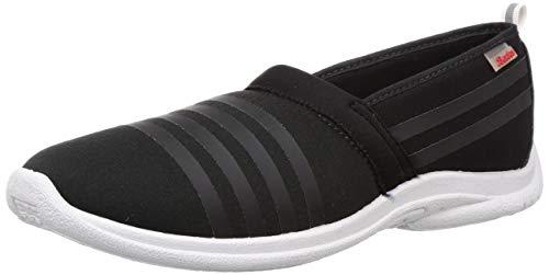 BATA Women's Slip On Softy Black Sneakers-6 (5596820)