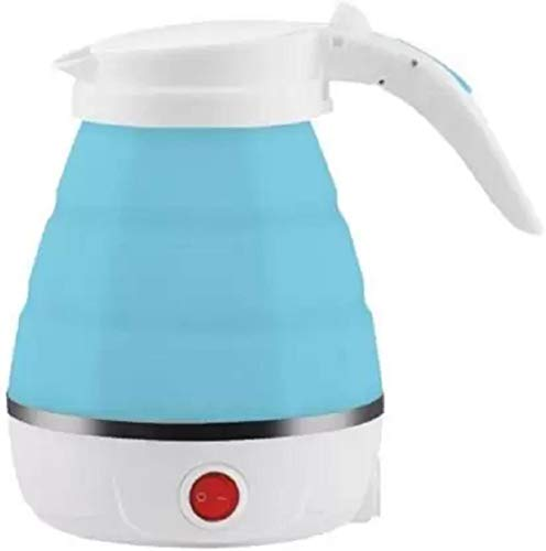 Kotak Sales Travel Electric Portable Foldable 600ML Kettle Collapsible Silicon 220V 50Hz for Tea Coffee Hot Water (MultiColor)