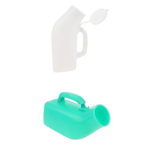 Paquete 2 Bolsa Inodoro Emergencia Olla con Cámara Botella Urinario 1000 Ml Tapa