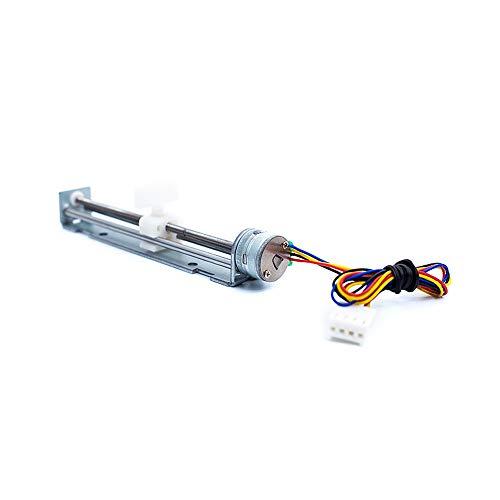 80mm Linear Tornillo Slider Motor paso a paso 5V 2-fase 4-wire Pull Push Rod Actuador práctica