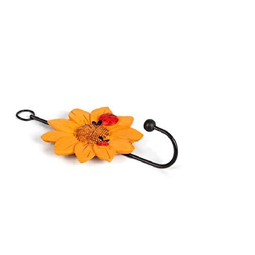 Ganchos Forma de flores Puertas Ganchos Ropa de suspensión Gancho de baño Toalla de baño Cuello Colgante Capa Sombrero Titular de Robe Cuarto de baño Gancho de vestir ( Color : Random , Size : 1pcs )