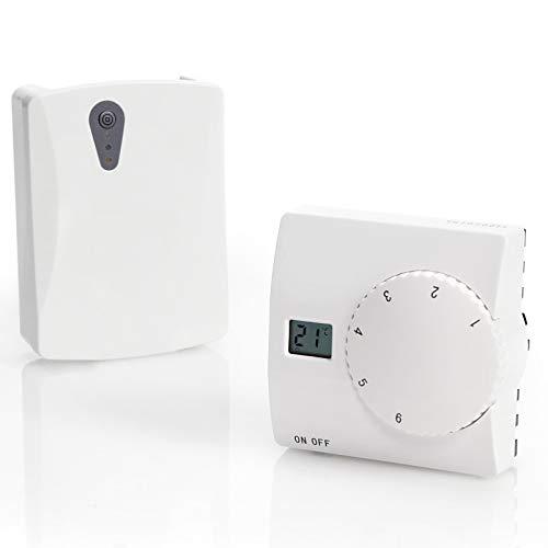 Funk Wireless Thermostat SAS816RF Temperatur-Regler Raumthermostat Raumregler 868MHz Funkreichweite 100Meter Freifeld