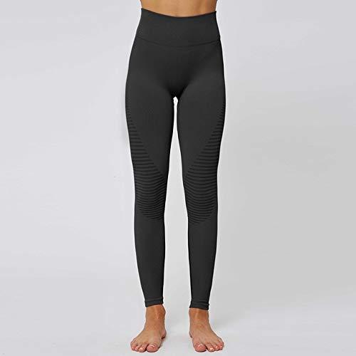 QingYu - Fitness-Dreiviertel-Hosen für Mädchen in black, Größe L