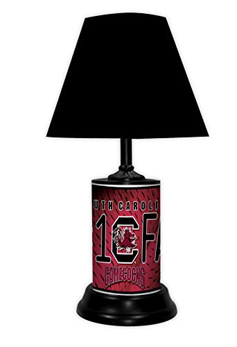 TAGZ SPORTS UNLIMITED South Carolina Gamecocks NCAA Desk/Table Lamp with Black Shade