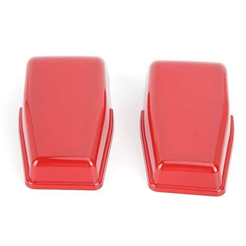 Cubierta de bisagra de ventana Duokon, 2 piezas ABS Rojo Puerta trasera Cubierta de bisagra de ventana Ajuste exterior Ajuste rojo para 2008-2017