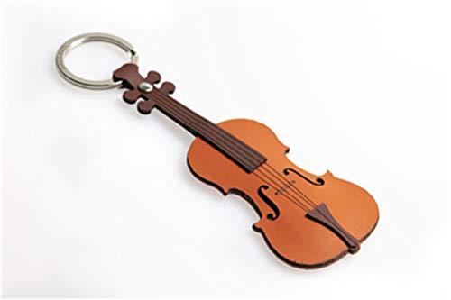 Sleutelhanger, leer, viool, pca 145 DStillti
