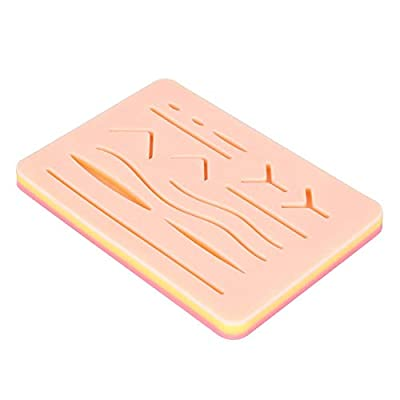 DOCAZON Suture Pad - New Gen Silicone Practice Pad from Tools of Medicine with Skin-Like Texture and Anatomy: Great for Surgery, Dental, Veterinary, Nursing, Physician Assistant and Medical Students