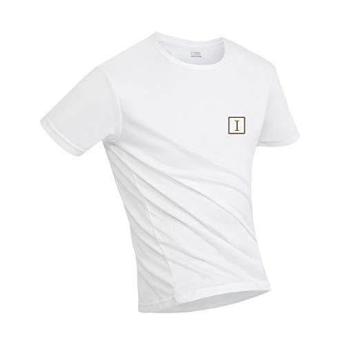 Irypulse Camiseta Hidrofóbica para Hombres y Mujeres, T Shirt Anti-incrustante Impermeable, Unisex T-Shirt Deportiva Casual Manga Corta, Secado Rápido, Absorción Humedad y Transpirable - Blanco