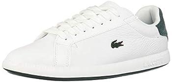 Lacoste Women s Graduate Sneaker White/Dark Green Leather-Suede 7.5 Medium US