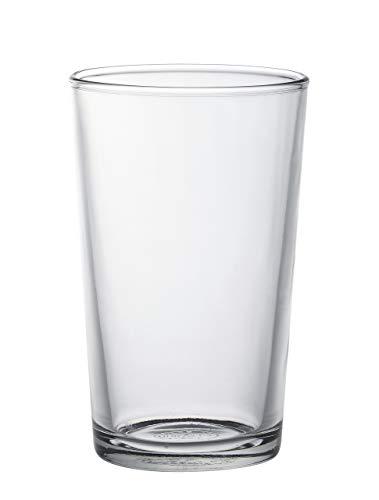 Duralex 511930 Chope Unie Wasserglas, 280 ml, Glas, transparent, 6 Stück
