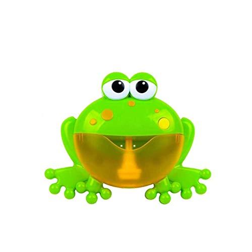 Bebé Baño de Espuma de la Rana de Juguete Bubble Maker Bubble Blower Máquina de Burbujas con 12 Canción de Cuna bañera de Burbujas Juguetes para Niños Baby Kids 1 Set