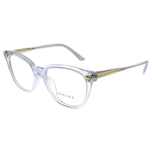 Versace VE 3242A 148 Transparent Plastic Round Eyeglasses 54mm