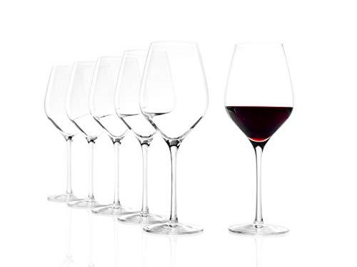 Stölzle Lausitz Roodwijnglazen Exquisit Royal 480 ml I rode wijnglazen set van 6 I wijnglazen vaatwasmachinebestendig I rode wijn kelk onbreekbaar I hoogwaardig kristalglas I hoogste kwaliteit