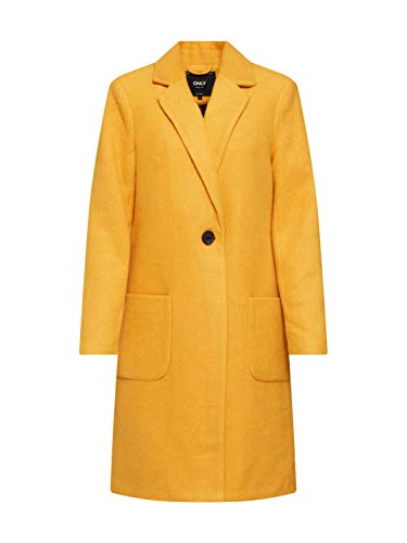 Only Onlastrid Marie Coat Otw Abrigo, Amarillo (Golden Yellow Detail: Melange), Small para Mujer