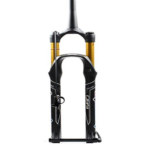 Bicicleta Tenedor 26 27.5 29 pulgadas MTB Bicicletas Suspensión Aire Barril Eje Cono Tubo Control Remoto Viaje 125mm ABS Bloqueo Disco Freno Ultraligero Gas Shock
