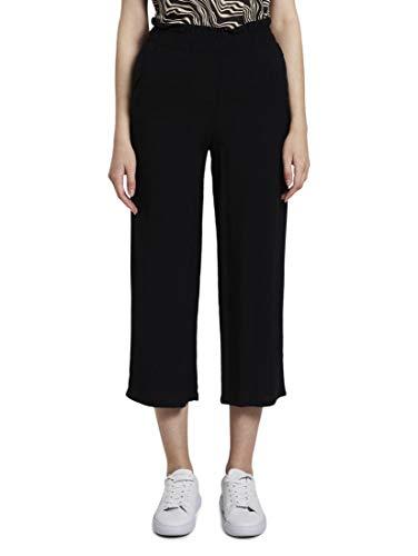 TOM TAILOR Damen Hosen & Chino Culotte Hose mit elastischem Bund Deep Black,36,14482,2999