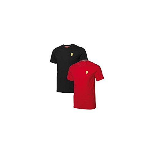 FERRARI Camiseta Hombre Escudo Logo Rojo Talla L