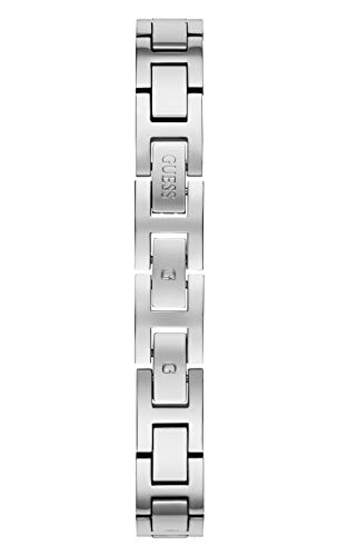 GUESS Women's Quartz Watch with Stainless Steel Strap, Silver, 16 (Model: GW0022L1)