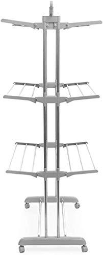 Maxi Vertical! stendibiancheria verticale XL! Stendino salvaspazio richiudibile pieghevole a torre con 24 barre ripiegabili e ruote - stendipanni rapido asciugabiancheria asciuga biancheria 3350
