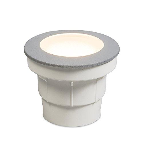 QAZQA Moderne Spot de sol estérieur Ceci 1 gris Plastique Gris Rond/Extérieur/Jardin/Luminaire/Lumiere/Éclairage