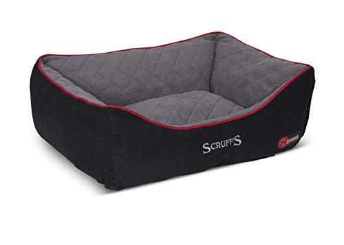 Scruffs Thermische Doos Bed, Groot, 75 x 60 cm, Zwart