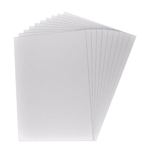 100 x Buchbinderpappe, Bastelpappe, Bastelkarton, Präsentationspappe, Dicke der Pappe: 0,1 cm / 1 mm, Farbe: grau-braun, Format DIN A4