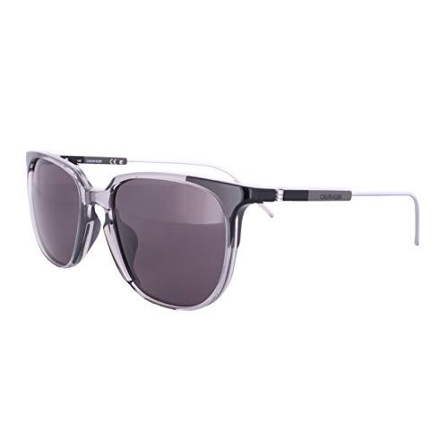 Calvin Klein CK19700S Acetate - Gafas de sol Crystal Smoke/Black unisex adulto, multicolor, estándar