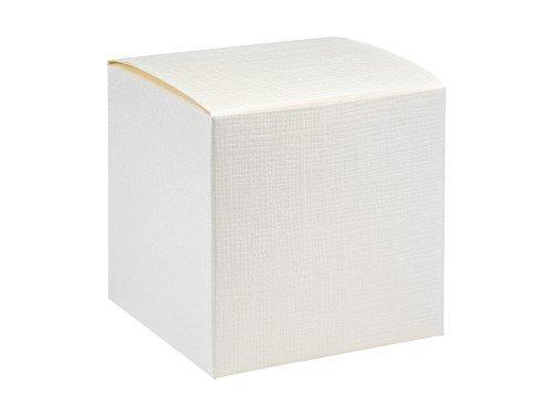 10 Stück Kartonage Würfel Seta weiß, 7 x 7 x 7 cm, Gastgeschenk Geschenkverpackung Hochzeit Weihnachten Taufe