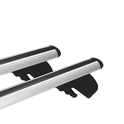 Omad Compatible para Fiat Doblo 2 2010-2021 Barras de Techo Portaequipajes Alu Gris APWOLF