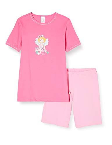 Schiesser Mädchen Prinzessin Lillifee Md kurz Zweiteiliger Schlafanzug, Rot (Pink 504), (Herstellergröße: 116)