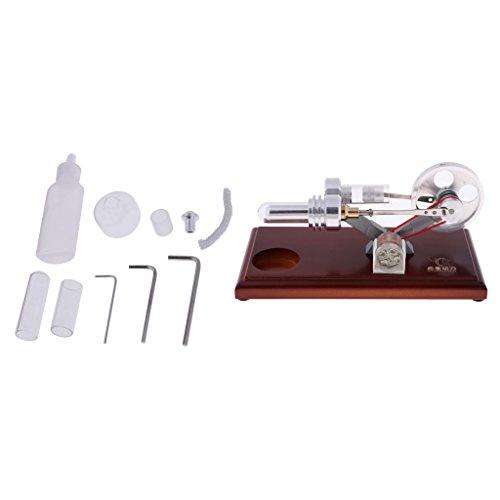 freneci Motor Stirling Máquina con Motor Stirling con Kit de Accesorios
